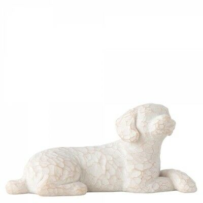 New & Boxed Willow Tree Figurine Love my Dog Lying Pet Animal Family Gift