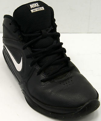 meet 5df98 9ec7d Nike AV PRO 3 GS PS Kids Basketball 525467 001 Black White Sz 6.5