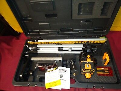 Johnson 40-6502 Rotary Laser Level and Johnson 40-6705 One Sided Laser Detector