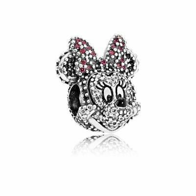 Authentic Pandora DISNEY Sparkling Minnie Portrait Charm USB7945 Limited Edition