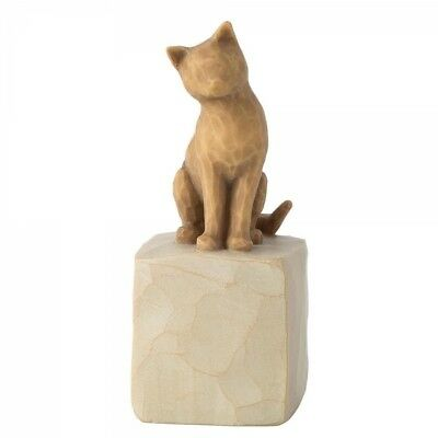 New & Boxed Willow Tree Figurine Love my Cat (Light) Pet Animal Family Gift