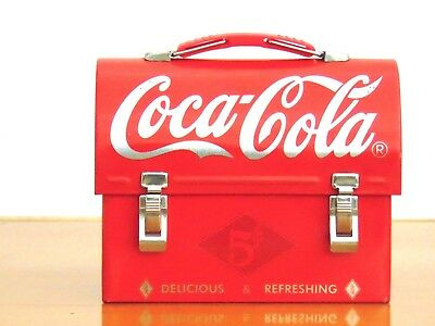 Coca Cola Coke Miniature Tin Lunchbox Delicious & Refreshing 2003