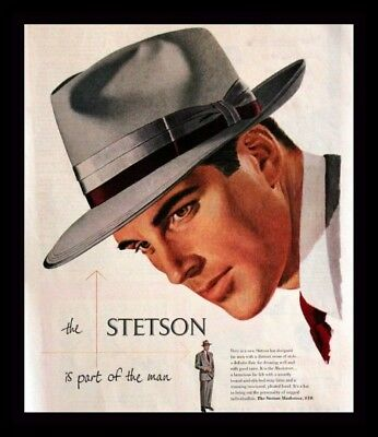 1950 Stetson Fedora Ad  - Musketeer - Vintage Mens Fashion Advertising Page