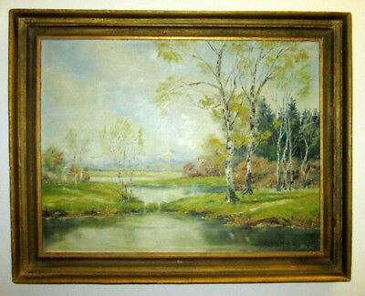 amazing vintage painting hand painted and sign by the artist Karl T Friton 1952