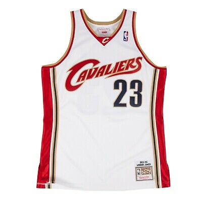 LeBron James 2003-04 Cleveland Cavaliers Mitchell   Ness Authentic Home  Jersey f73d3dfde