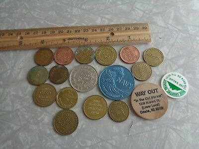 vintage coin token lot car wash arcade