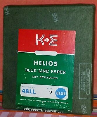 "KEUFFEL ESSER/K&E-HELIOS Blue Line Paper 7 3/4"" x 8 7/8""▪500 Sheets▪20LB▪Speed 9"