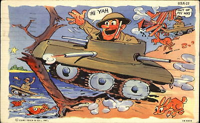 Wwii army comic soldier on sentry duty how i miss you tonight wwii army comic tank running amok artist ray walters soldier mail to dayton oh publicscrutiny Image collections