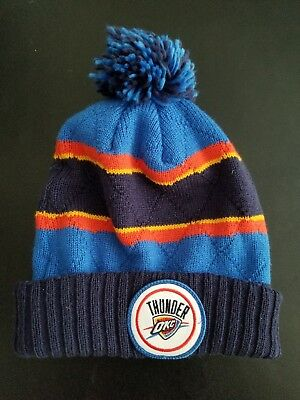 efd7b57ff351a2 Mitchell & Ness Oklahoma City Thunder Beanie Cap Knit Hat Speckled Cuff