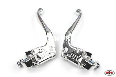 Dia-Compe 132MT45 Pre Bent BMX Brake Levers Pair - Silver - Old School Retro BMX