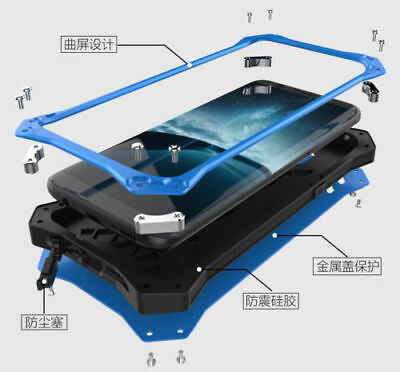 R-JUST Metal Aluminum Shockproof Heavy Duty Case Cover For Samsung Note 9 iPhone