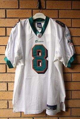 Bnwt Miami Dolphins #8 Daunte Culpepper Authentic Reebok Nfl Jersey Size 48