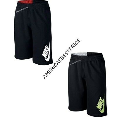 Nike New Kids N45 Hbr French Terry Boys Shorts Nwt,warm&red/warm&white,very Nice