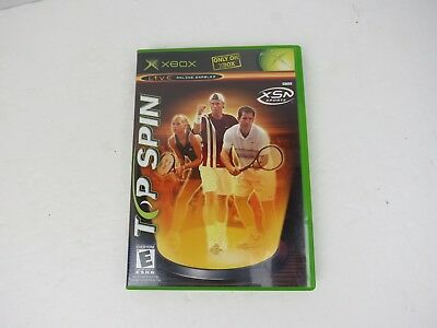 Top Spin (Microsoft Xbox, 2003) EXCELLENT COND. COMPLETE! SUPER FAST SHIPPING