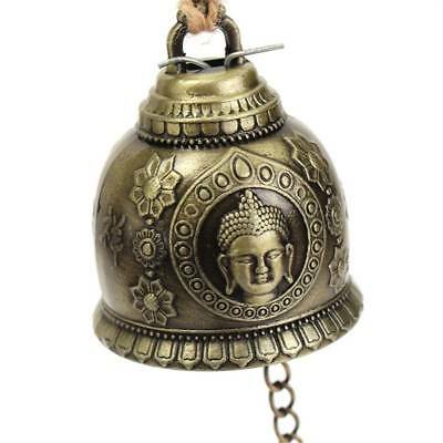 Buddha Statue Pattern Bell Blessing Feng Shui Wind Chime Home Car Hanging Decor