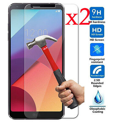 2PCS 9H+ Premium Tempered Glass Film Screen Protector For LG G3 G4 G5 G6 G7