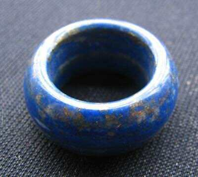 vintage.natural lapis lazuli hand carved  band ring sz12.5