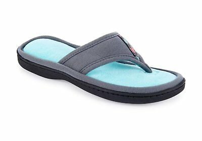 7abf74a46ffd ISOTONER WOMEN S MICROTERRY Jersey Luna Thong Slipper -  18.98 ...