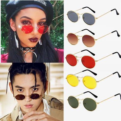 Vintage Retro Round Unisex Sunglasses Glasses Metal Frame Shades Cool Fashion
