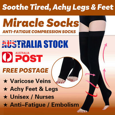 Flight compression socks Varicose Veins Stockings Support Thigh Leg Anti-Fatigue