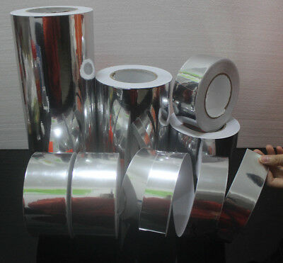 Glossy Mirror Chrome Silver Vinyl Tape Adhesive Car Wrap Sticker DIY Bubble Free