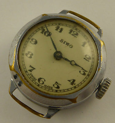 Vintage 1930s Ladies Art Deco Siro Swiss Mechanical Wrist Watch Not Working