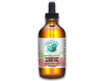 Rosehip Seed Oil 4 oz 100% Pure Cold-pressed Unrefined Organic