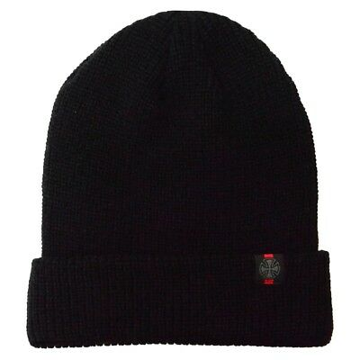 Independent - Cross Fold Over Beanie Black