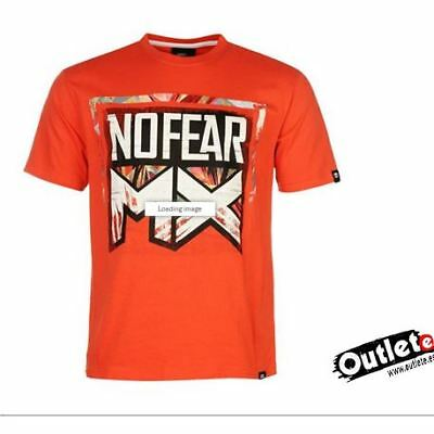 Camiseta Fashion No Fear Moto Graph Red Mx