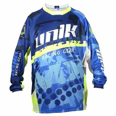 "Camiseta Cross Unik ""mx01"" Azul/fluor"