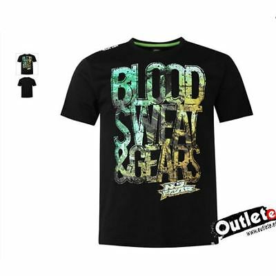 Camiseta Moto Fashion No Fear Moto Graphic Blood Sweat Gear Black Ao
