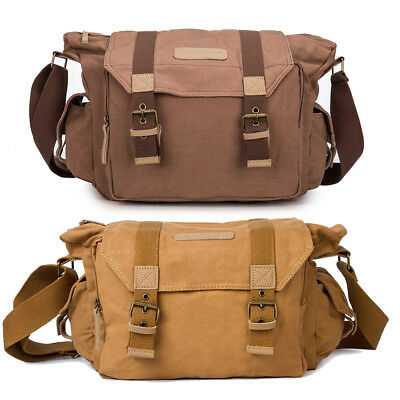 Canvas Vintage Waterproof Shoulder Messenger Camera Bag for Canon Nikon Sony SLR