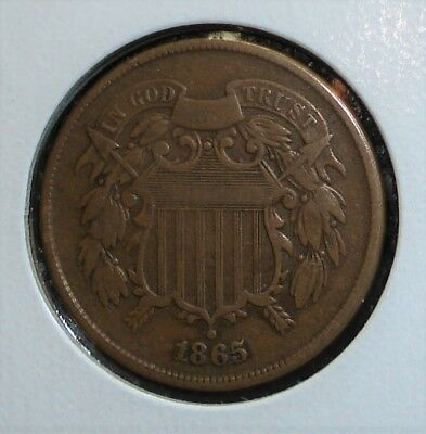 1865 Two Cent Piece with Interesting-Looking Date