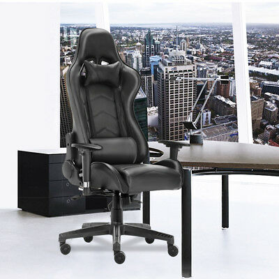 Deluxe Seat Office Chair Sport Executive Computer Racing Gaming PU Leather Rock
