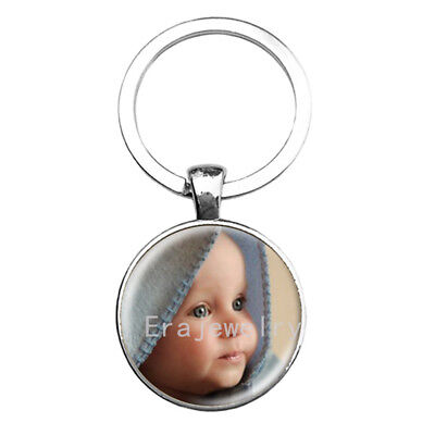 Personalized Photo key chains Custom Keychain Photo of Your Baby Child Mom Dad