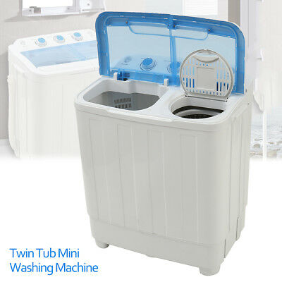 5KG Portable Mini Compact Twin Tub Washing Machine Washer Spin Dryer Apartment