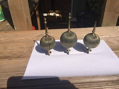 Brass grandfather  clock  finials  cast brass period finials