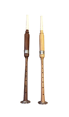 practice Chanter ROSEWOOD/COCUSWOOD WITH HAND WORK  SILVER AMOUNT + 2 REEDS