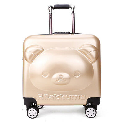 Childrens Luggage Kids Carry on Suitcase Travel Luggage Trolley School Case Bag
