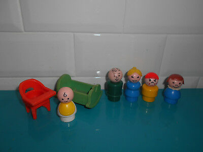 18.6.3.5 FISHER PRICE Lot Figurines personnages famille bébé little people