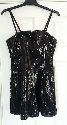 Generation New Look black sequin playsuit 13 years