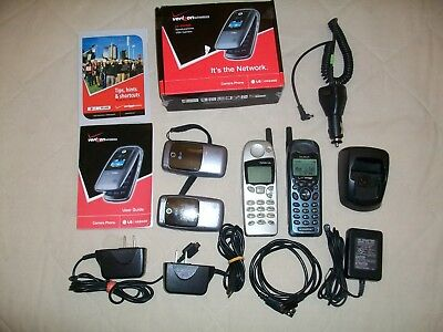 Lot Of 4 Vintage Cell Phones.