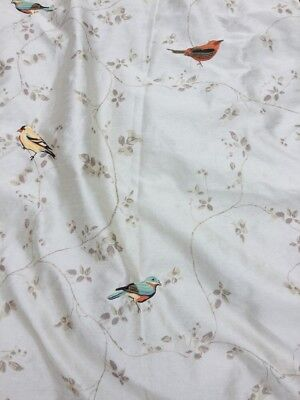 Avanti Gilded Birds Shower Curtain Embroidered Song On Silky Fabric