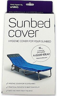 2 x Sun Bed Garden Lounger Hygienic Covers Adjustable Travel Garden Holiday NEW