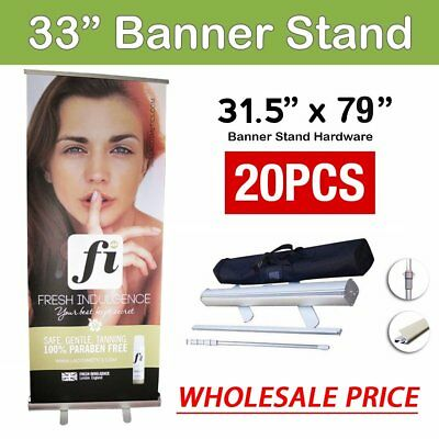 """20X Retractable Roll Up Banner Stand 80x200cm (31.5""""x79"""") Display Sign VIP"""