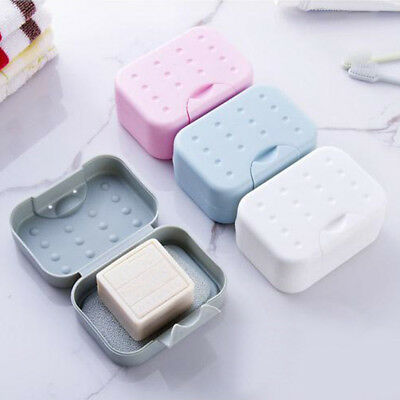 Soap Dish Box Case Holder Container Bathroom Shower Portable Travel Camping