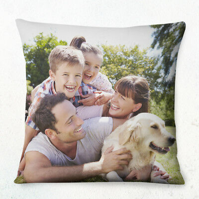 PERSONALISED CUSTOM Cushion Cover 40cm Printed both sides Any Photo Picture text