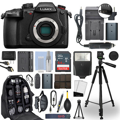 Panasonic Lumix DMC-GH5S 10.28 MP 4K Digital Camera Body + 64GB Deluxe Bundle
