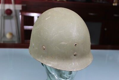 US WW2 Early M1 Helmet Liner. Firestone F8 Great Sweatband Nape Strap Khaki HBT.