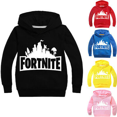 Boys Girls Kids FORTNITE Cotton Casual Spring Fall Hoodies Sweatshirts Pullover